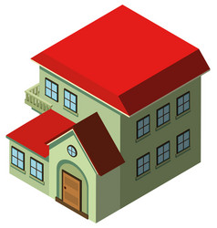 3d design for house with red roof vector image