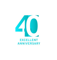 40 years excellent anniversary template design vector