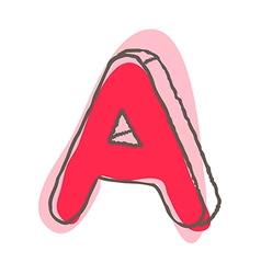A view of alphabet vector image
