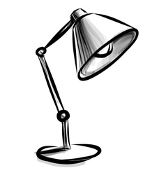 Adjustable table lamp isolated on white vector image