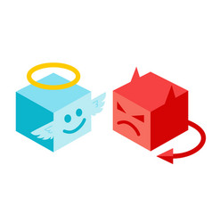 Angel and devil in isomertry vector