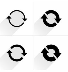 Arrow icon reload rotation reset repeat sign vector
