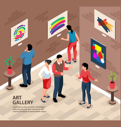 Art gallery square background vector