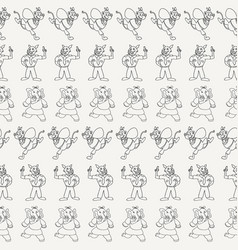 Black and white horizontal anthropomorphic vector
