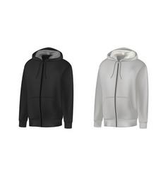 blank black gray mens hoodie sweatshirt long vector image