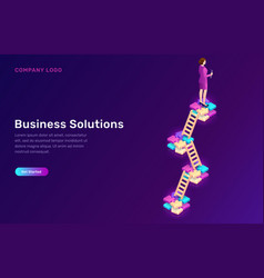 business solution strategy development concept vector image