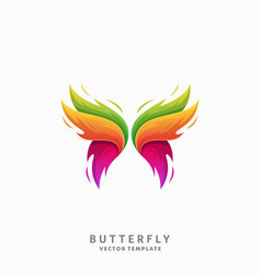 Butterfly template vector