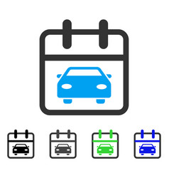 Car day flat icon vector
