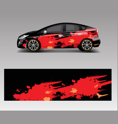 Car wrap decal design graphic abstract racing vector