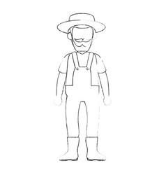 Cartoon gardener icon vector