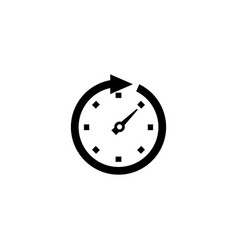 clock arrow flat icon vector image
