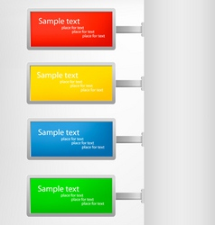colored tags vector image vector image