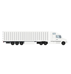 container trailer truck for export with cold vector image