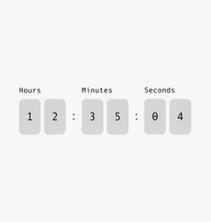 Countdown on digital scoreboard hour and minute vector