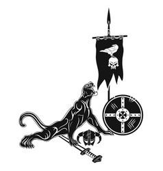 death viking vector image