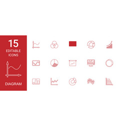 diagram icons vector image