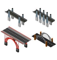 Different designs of bridges vector