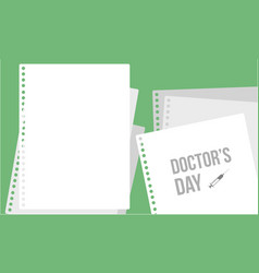 doctor day greeting card style collection vector image