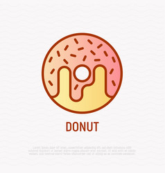donut thin line icon modern vector image