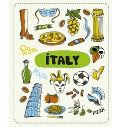 Doodle about Italy vector