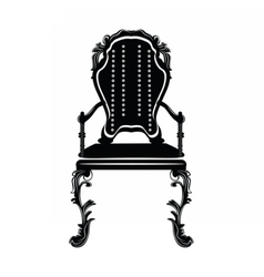 Elegant chair with rich ornaments vector