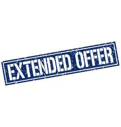 Extended offer square grunge stamp vector