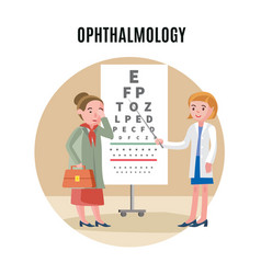 Flat ophthalmology medical concept vector