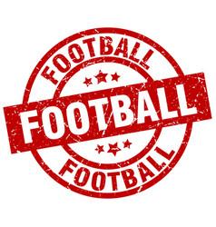 Football round red grunge stamp vector
