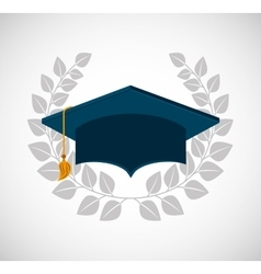 Graduation school emblem icon vector