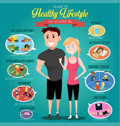 guide to healthy lifestyle infographics vector image