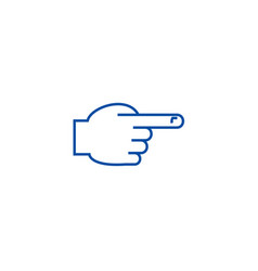 hand with pointing finger front line icon concept vector image