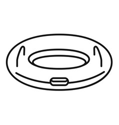 Inflatable ring icon outline style vector