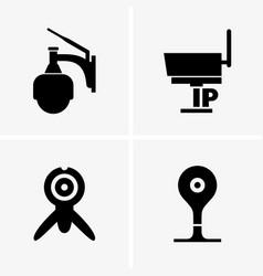 Ip cameras vector