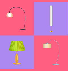 lamps collection interior vector image