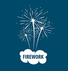 Logo white cloud and firework vector