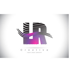 lr l r zebra texture letter logo design with vector image
