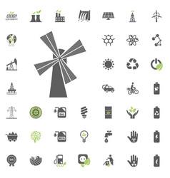 Mill icon eco and alternative energy icon vector