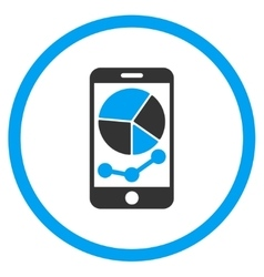 Mobile Graphs Icon vector image