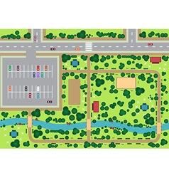 Park view from top vector image