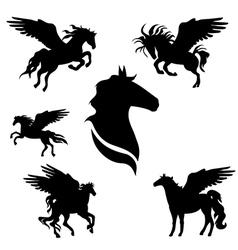 pegasusSet vector image