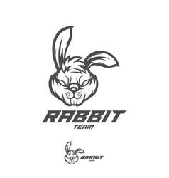 Rabbit logo template modern head logo vector