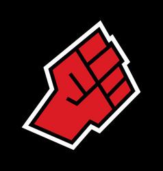 Raised fist icon vector