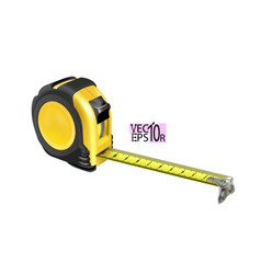 Realistic tape measure isolated on white vector
