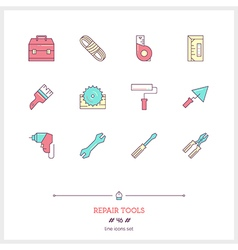 REPAIR TOOLS Line Icons Set vector
