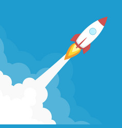 rocket launch banner vector image