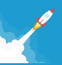 Rocket launch banner vector