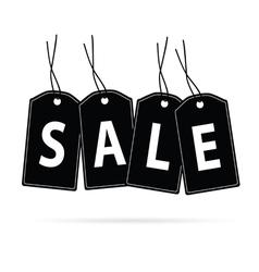 Sale tag black vector