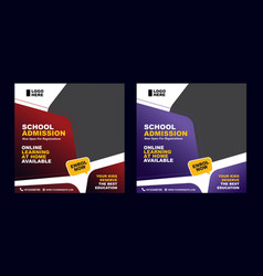 School admission flyer template vector