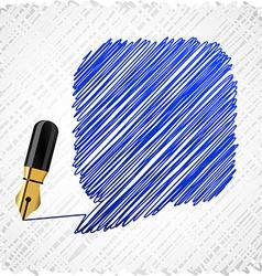 Scribbled speech shape vector