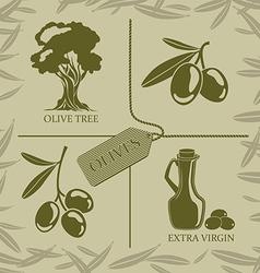 Set for olive labels vector image